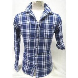 Punit Polyfab Checked Mens Cotton Casual Shirts