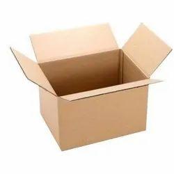 Brown Rectangular Corrugated Paper Shipping Packaging Box