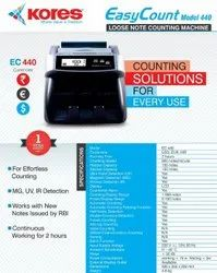 1000/Min Automatic Kores Easy Count 440 Currency Counting Machine, Uv Mg Ir, Hopper Capacity: 150 Note