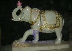 Makrana Marble Handicraft Elephant