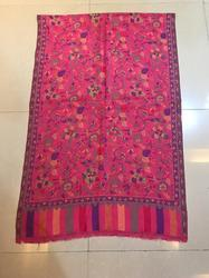Printed Pink Pashmina Stole