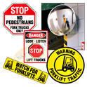Aluminium Yellow Pedestrian Forklift Safety Kit Signs, Shape: Rectangle, Square