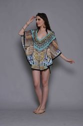Digital Printed Short Moroccan Kaftan