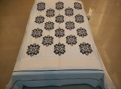 Designer Bed Spreads Silk Embroidery Work Set Of Five Pcs