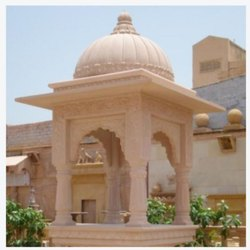 Off White Marble Sand Stone Chhatri