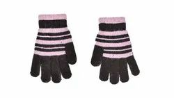 Striped Woolen Gloves