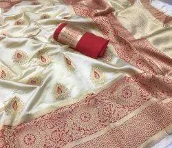 Wedding Bnarasi Silk Banarasi Silk Saree with Blouse Piece