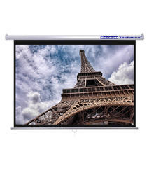 Screen Technics 4 H X 6 W Instalock Projector Screen Premium Grade Support HD/4k/3d Technology