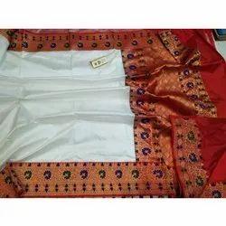 Festive Wear Ladies Banarasi Silk Saree, 5.5 M (separate Blouse Piece), With Blouse Piece
