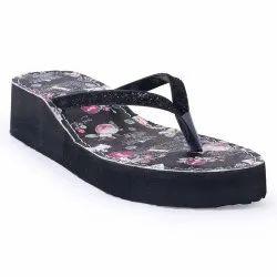 Women Black Heel Flip Flop