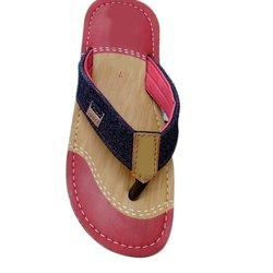 Daily wear Printed Designer Pink Slippers For Men, Size: 6-10