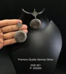 German Silver Encrafted Earrings