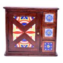Wooden 3 Drawer 1 Door Tile Key Box