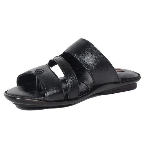 2010f3552c4dc Black Stylish Leather Sandal