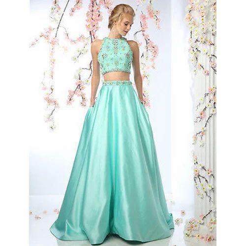 7715f6d51 Fancy Crop Top Skirt Set at Rs 6400  set