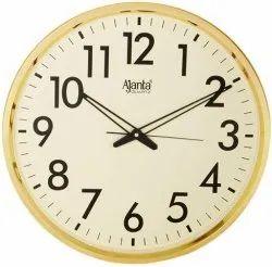 GOLDEN Analog ORPAT AJANTA WALL CLOCK, For Home