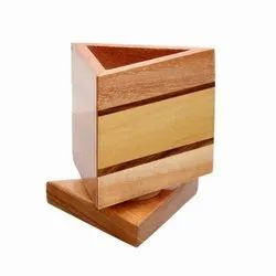 Revolving Wooden Pen Stand