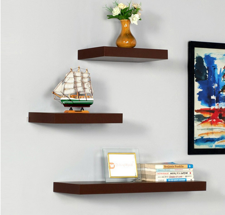 Wood Wall Shelves Floating Wall Racks Set Of 40 At Rs 40 Set Bus Enchanting Where To Buy Floating Wall Shelves