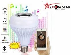 Zoom Star LED Bulb with Bluetooth Speaker Music Light Bulb, Colorful Lamp with Remote Control