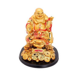 Feng Shui Laughing Buddha with Wealth Golden Coins