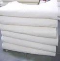 White 20s Cotton Bed Sheet Fabric in Recycled Yarn