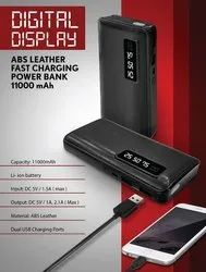 ABS Leather Fast Charging Power Bank 11000mah