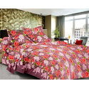 Flower Printed Cotton Single Bed Sheet
