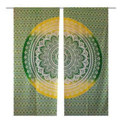 Indian Handmade Cotton Mandala Printed Wall Decor Curtains