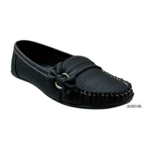 5a55504d99c Causal Ladies Black Loafer Shoes