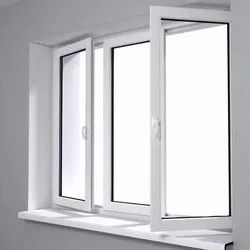 Kommerling White UPVC Glass Window for Home