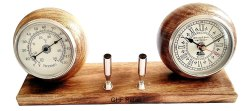 Table Clock With Weather Temperature Meter And Pen Holder Stand