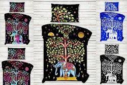 Elephant Tree Ombre Mandala Printed Cotton Single Duvet Cover