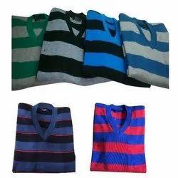 V Neck Men's Modern Pullover Sweater
