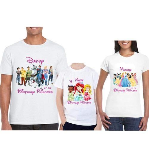 e2ac0a38d Round Party Wear Sprinklecart Unique Disney Princess Family T Shirt ...