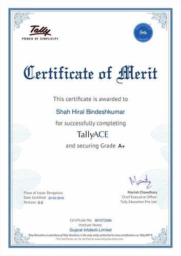 Tally Certificate, Tally Training - Jamsab Computers ...