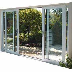 Toughened Glass L Handle UPVC Sliding Door