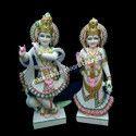 Polished Marble Radha Krishna Statue