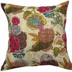 Cotton Plain Yarn Dyed Printed Cushion Cover, Size: 50 x 50 cm