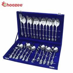 Handmade Cutlery Set of 24 Pcs (Leaf Design)