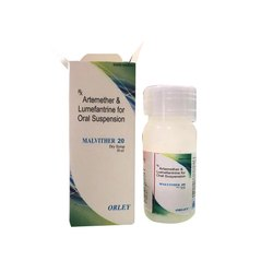 Malvither 20 Dry Syrup Artemether and Lumefantrine For Oral Suspension, For Hospital, 20 Mg