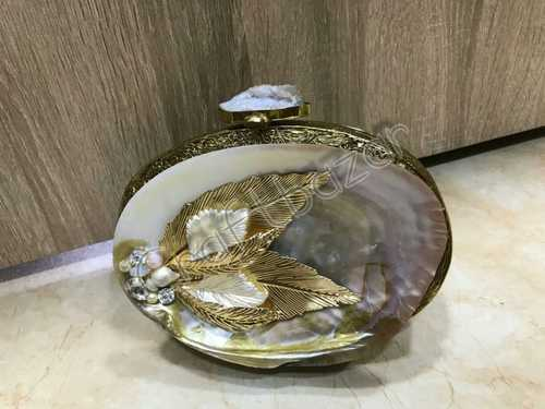 Marble Oval Clutches Bag
