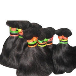 Black Non Remy Double Drawn Hair, for Parlour