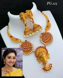 Pansey Collection Traditional Gold Necklace