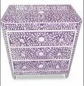 Bone Inlay Chest Drawers