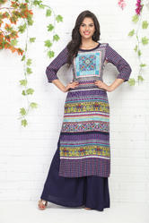 PRINTED KURTI WITH PLAZO