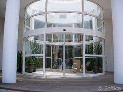 White Standard Round and Curved Door