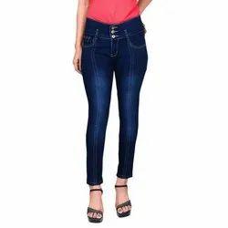 Regular High Rise Ladies Stretchable Denim Jeans, Waist Size: 28-32
