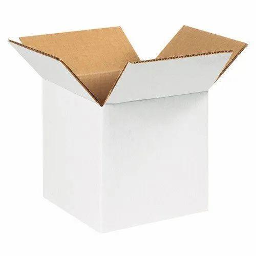 Corrugated Paper Single Wall - 3 Ply White Corrugated Box, Box Capacity: 6-10 Kg