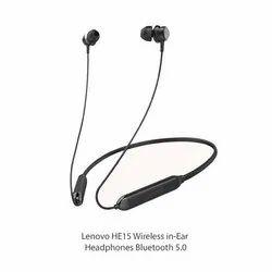 Black Lenovo HE15 Wireless in-Ear Headphones Bluetooth 5.0 in-Built Mic