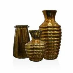 7194 Golden Glass Vase